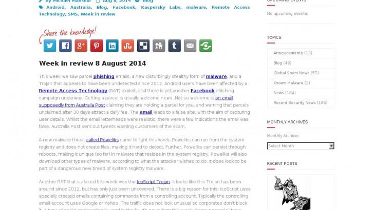 Week in review 8 August 2014