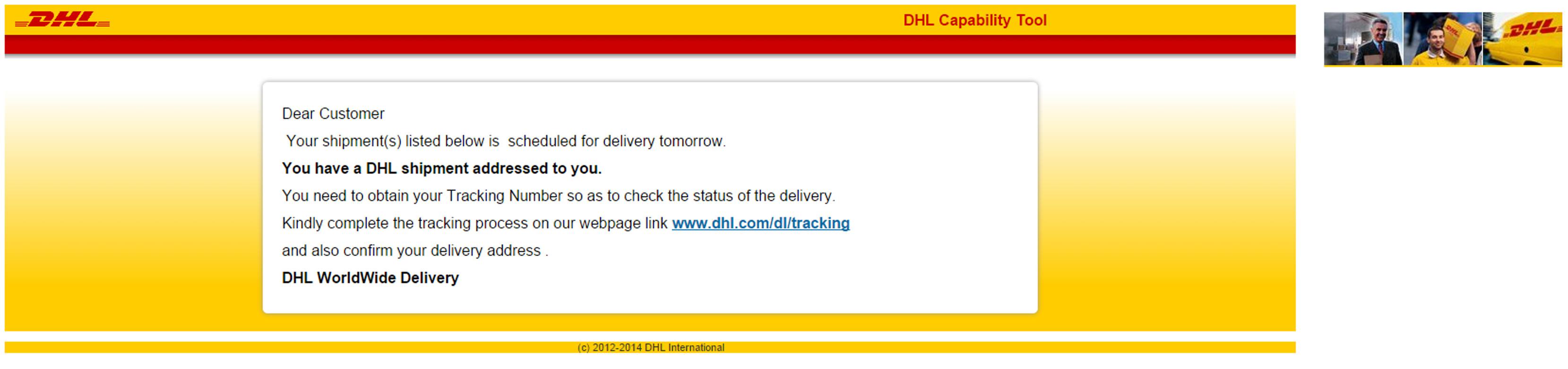 MailShark Fake DHL shipment delivers malware
