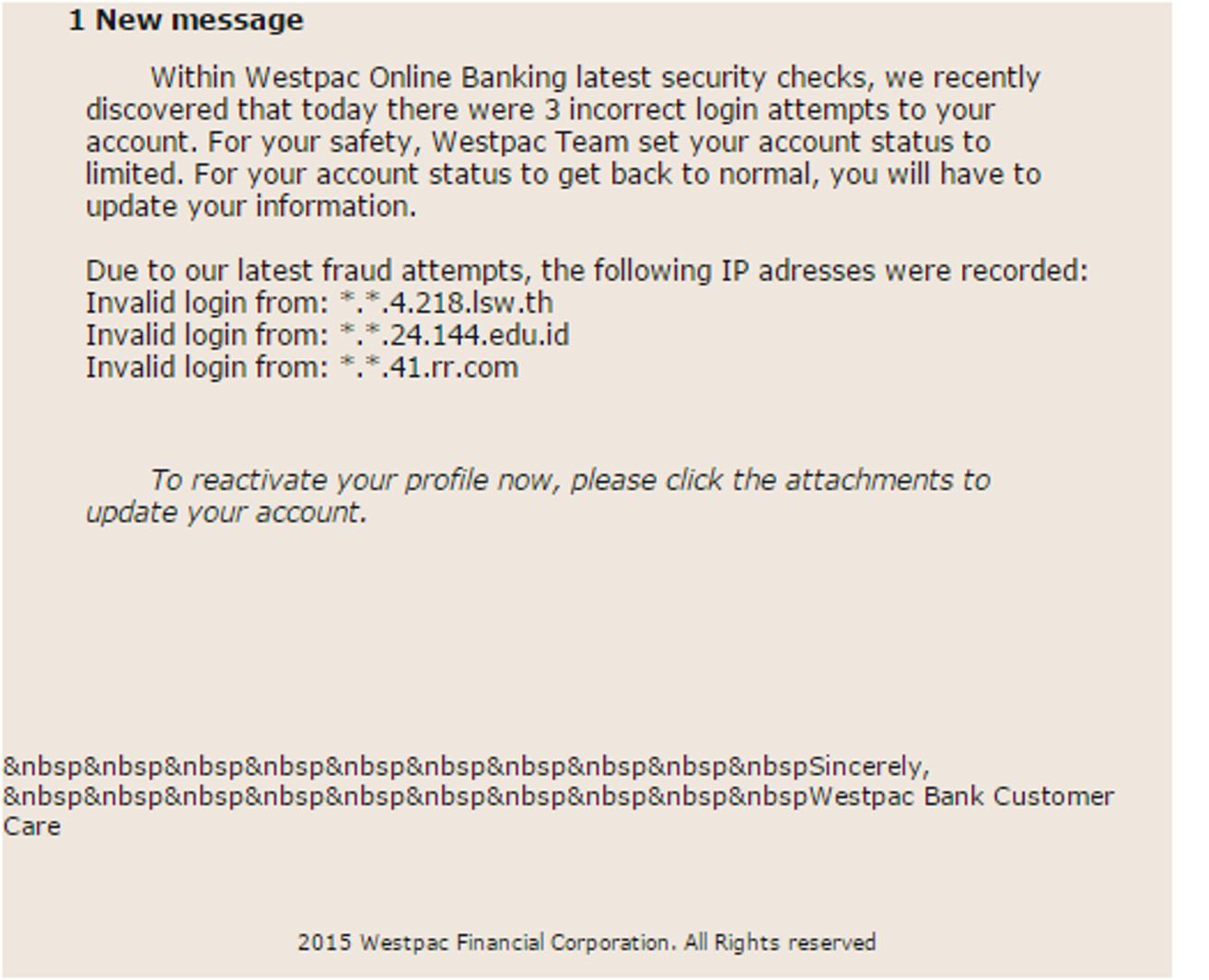 Fake email attachment contains malware - MailShark