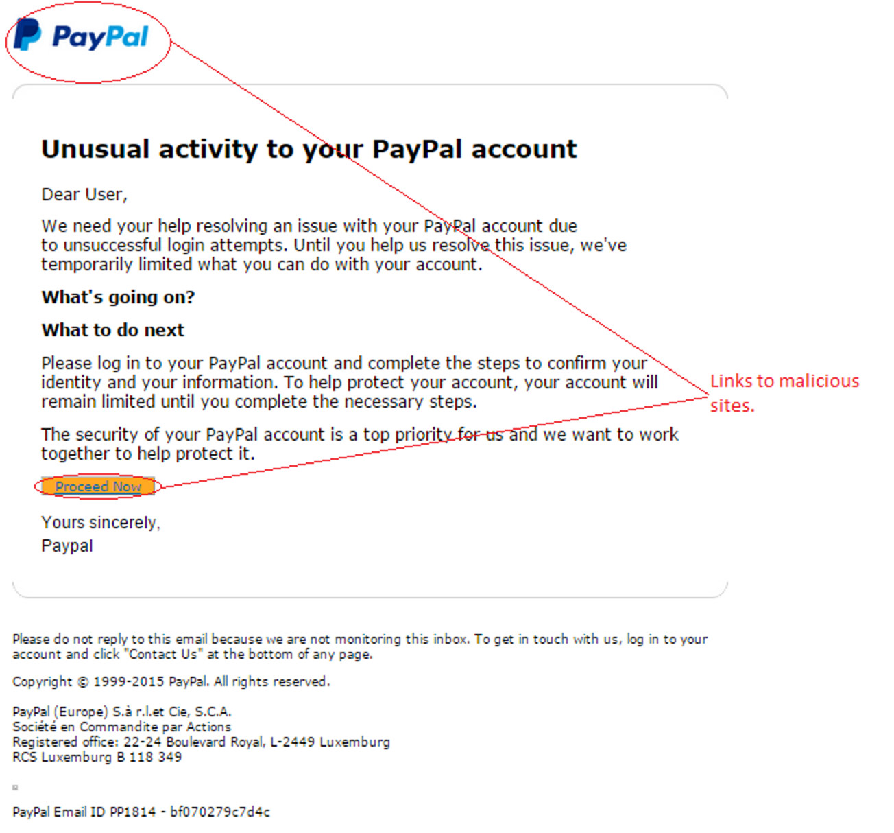MailShark Unusual activity PayPal account