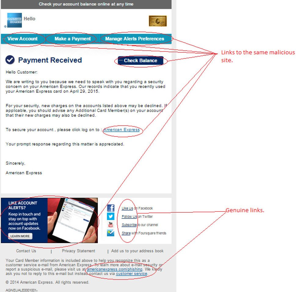 MailShark Payment Received says AMEX Phishing email