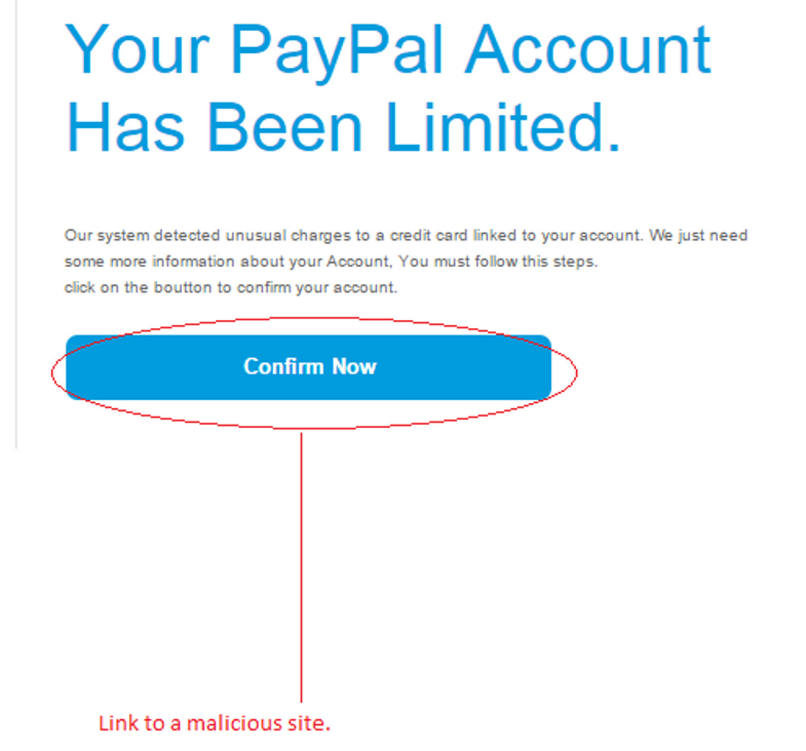 MailShark Unusual credit card charges warns fake email