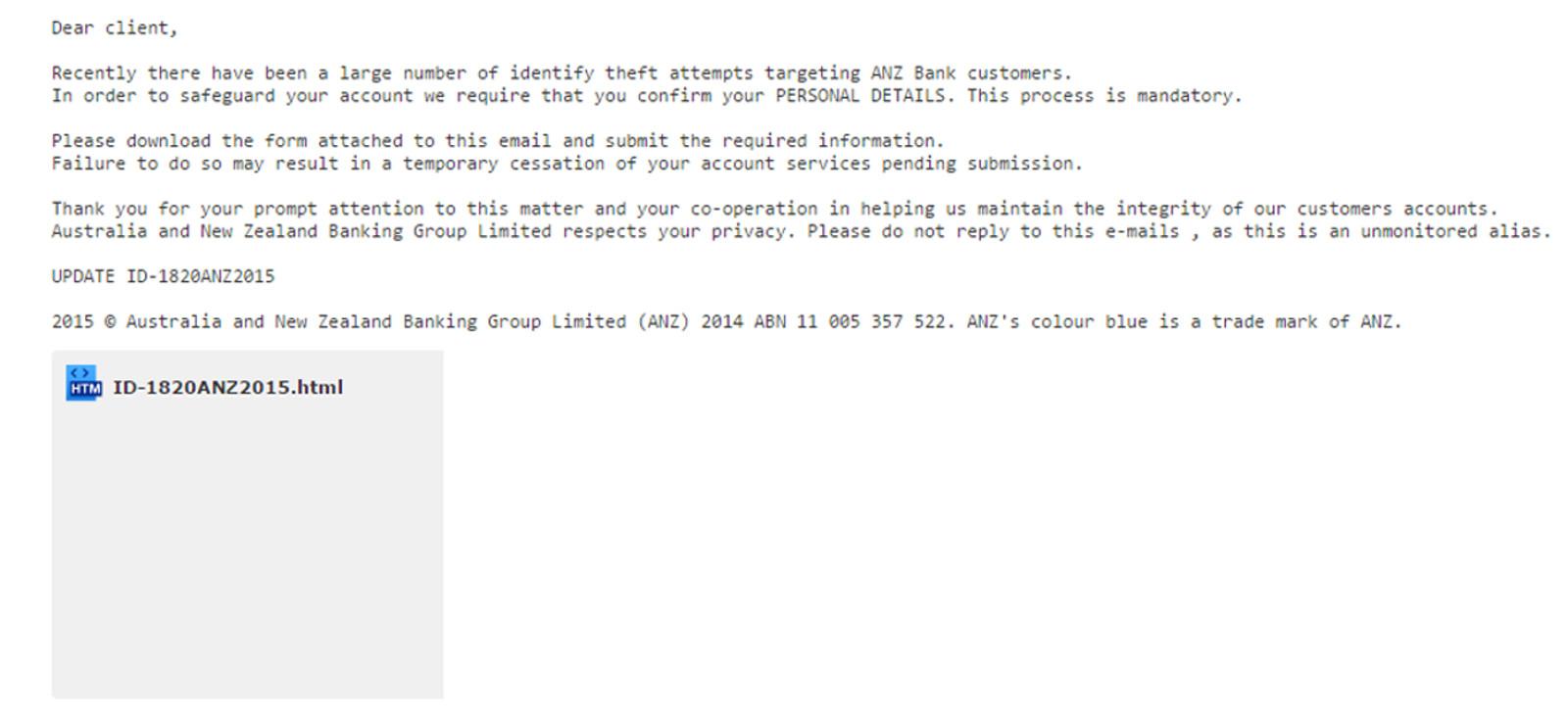MailShark Mandatory Account Verification phishing email