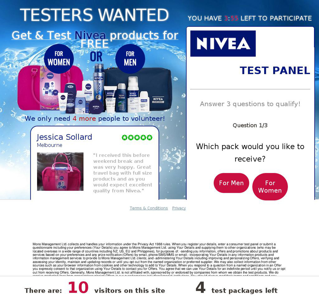 MailShark Test Nivea products for free Visit Website