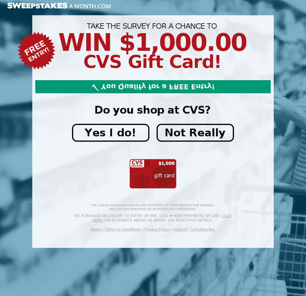 win a cvs pharmacy gift card email scam
