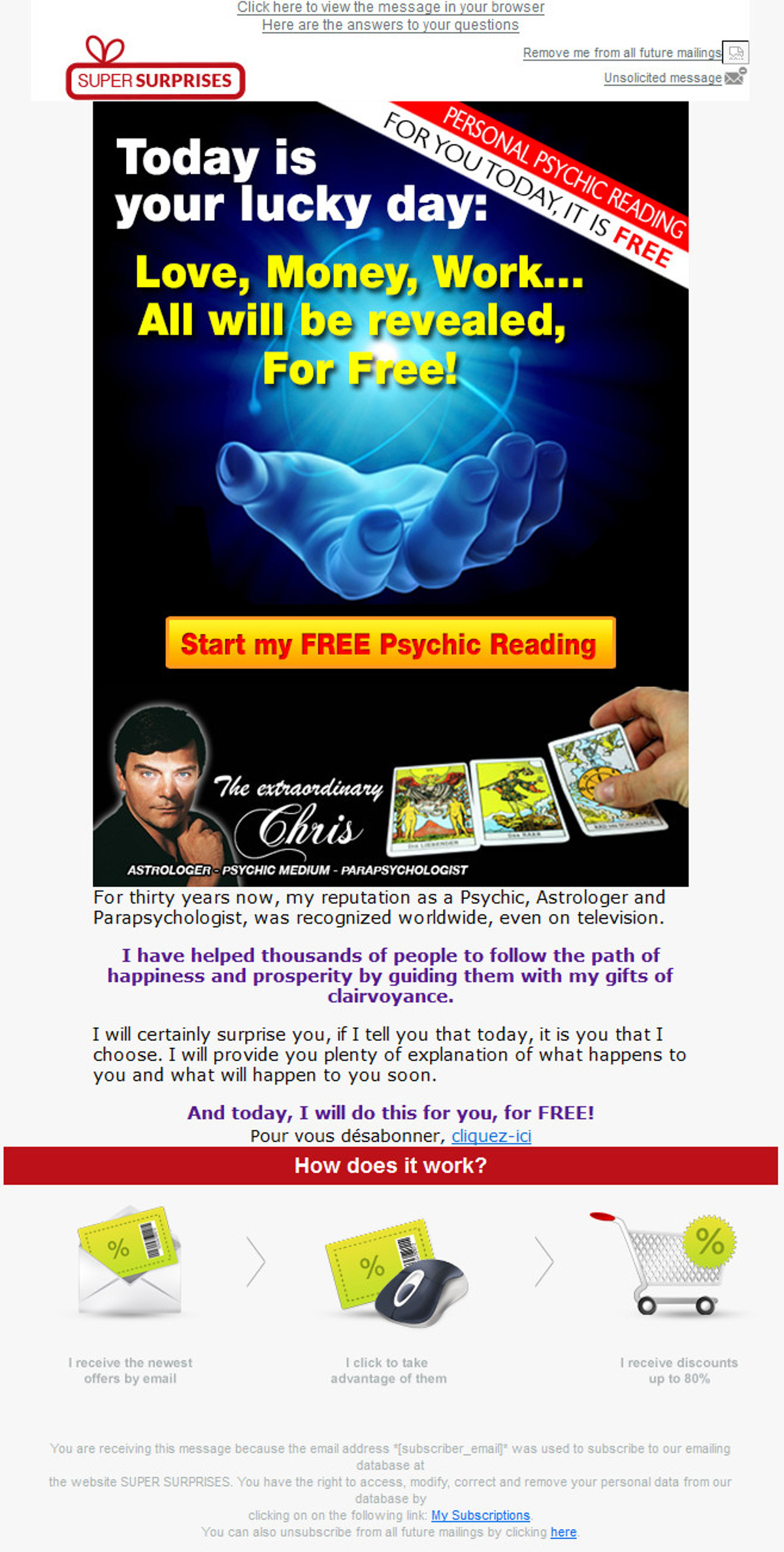 Free personal psychic reading by email