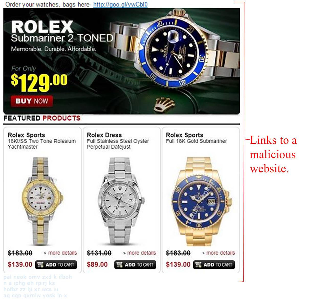 MailShark Replica Rolex Watch Present Scam