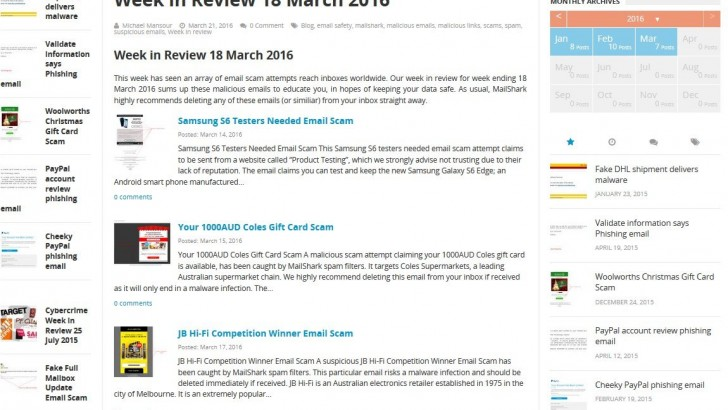 Week in Review 18 March 2016